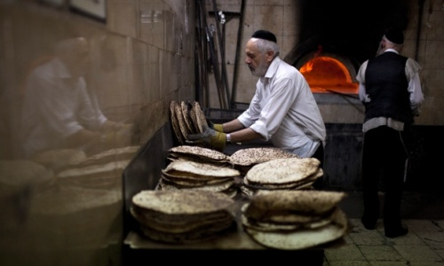 Ultra-Orthodox Jews Matzah Bakery at the Mea Shearim neighborhood